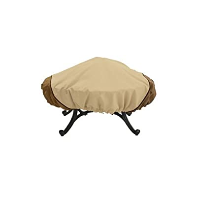 Veranda 44-inch Round Fire Pit Cover Garden Lawn Supply Maintenance from Home-APP