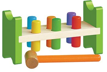 Classic Wooden Pound A Peg Toy - 1