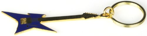 Harmony Jewelry B.C. Rich Ironbird Electric Guitar Keychain - Blue