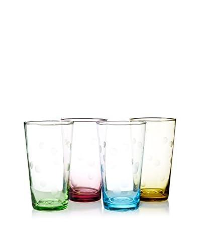 Artland Set of 4 Polka Dot 20-Oz. Highball Glasses