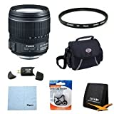 Canon EF-S 15-85mm f/3.5-5.6 IS USM UD Wide Angle Zoom Lens for Canon Digital SLR Cameras w/ 72mm Multicoated UV Protective Filter, Deluxe Bag, Lens Cap Keeper, Microfiber Cleaning Cloth, Memory Card Wallet, USB 2.0 Card Reader