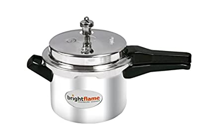 Bright Flame Aluminium Popular 3 L Pressure Cooker (Induction Bottom,Outer Lid)