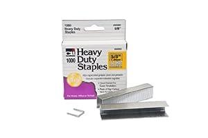 Charles Leonard Inc., Staples, Heavy Duty, 5/8 Inches Leg Length, Carbon Steel, 1000/Box (84063)