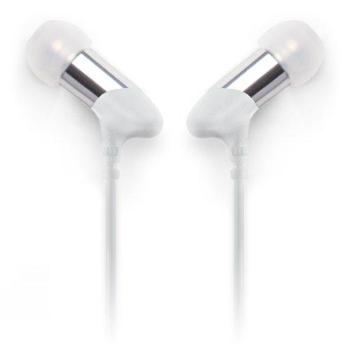 Earjax Bz-Egg92-0611 Gig Series Headphones, White/Silver