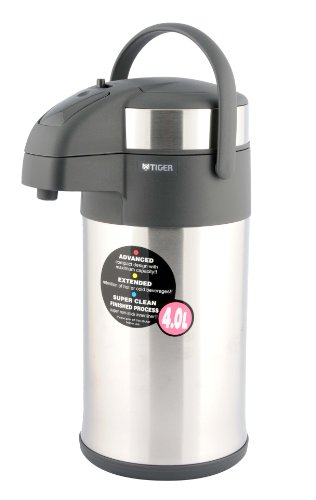 Tiger MAA-A402 4.0-Litre Pump Coffee/Tea Dispenser, Silver