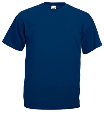Fruit of the Loom - Classic T-Shirt 'Value Weight' S,Navy