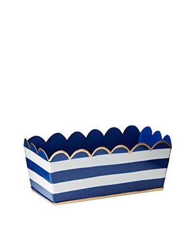 Malabar Bay Horizontal Stripe Desk Caddy, Navy