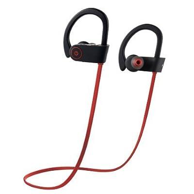 "Wireless Bluetooth Headphones, Otiumâ""¢ Beats Wireless Sports Earbuds Sweatproof Portable Stereo Mini Earpiece Lightweight Headsets With Microphone"