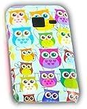 Samsung Galaxy Ace Duos S6802 Kleine Eule Owl Schutz-Hülle Case Schale Cover thematys®