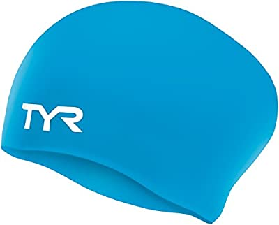 TYR Sport Long Hair Wrinkle-Free Silicone Swim Cap