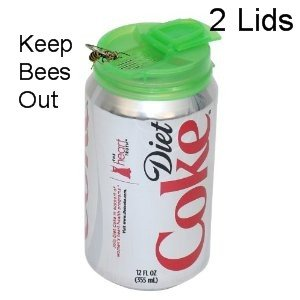 Jokari Beverage Deluxe Can Caps 2 Pack Soda pop Lids - KEEPS INSECTS OUT OF your Drink,Colors/Styles May Vary