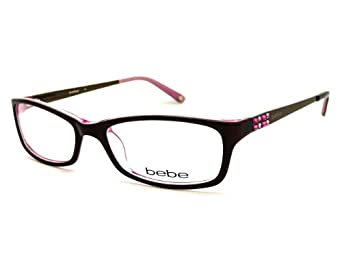 Bebe Blue Eyeglass Frames : BEBE Eyeglasses BB5044 607 Brown Rose 53MM at Amazon Women ...
