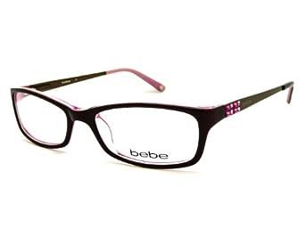 Bebe Leopard Eyeglass Frames : BEBE Eyeglasses BB5044 607 Brown Rose 53MM at Amazon Women ...