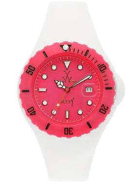 Toy Watch Pink Jelly Case White Jelly Strap