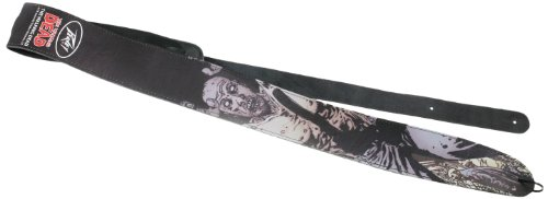 Peavey The Walking Dead Cliff Zombie Leather Guitar Strap