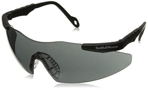 Smith & Wesson 19823 Smith and Wesson Safety Glasses, Magnum 3G Eyewear, Universal, Smoke Lenses with Black Frame (Shooting Range Glasses compare prices)