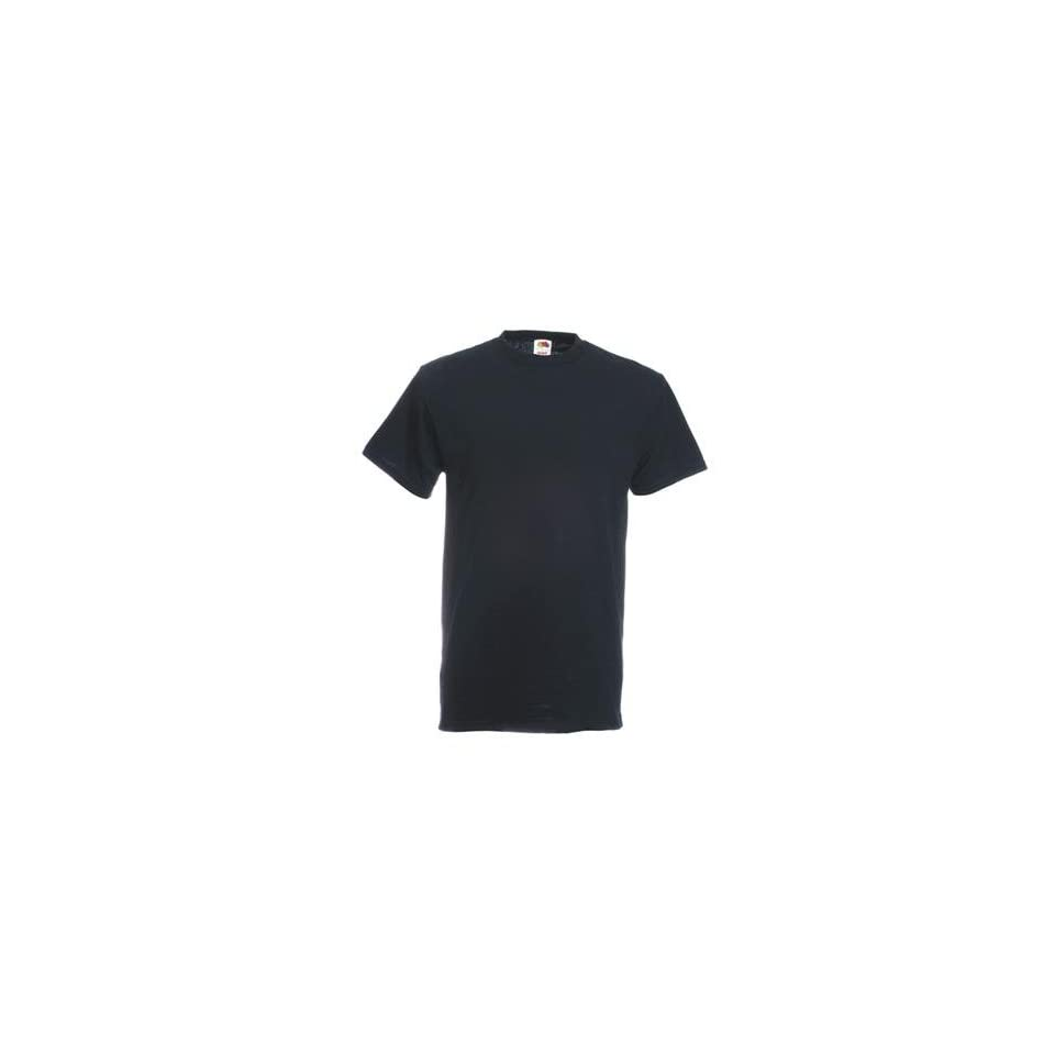 Stück Fruit of the Loom Heavy Cotton T Shirts in Schwarz, Grösse XXL