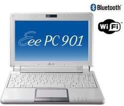 "Asus EEE PC 901-W014X Mini Notebook 8,9"" (1024 x 600) 1024 Mo DDR2 12 Go Flash Win XP Home Blanc"