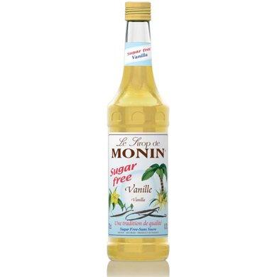 Monin Syrup Vanilla Sugar Free 1ltr and Pump