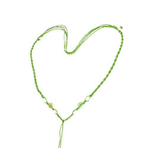 Rosallini 5 Pcs Pistachio Green Nylon Braid String Plastic Beads Necklace