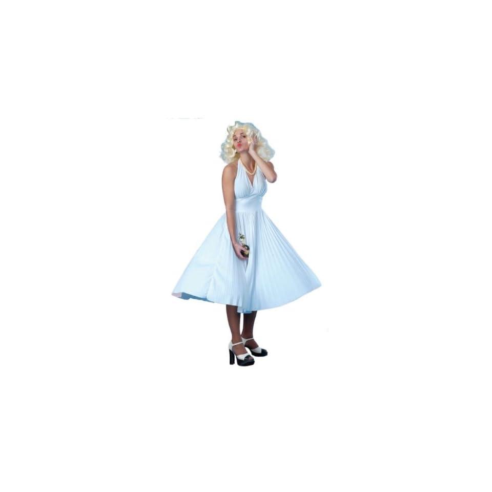 Marilyn Monroe White Fancy Dress Costume Size US 8 10