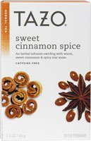 Tazo Sweet Cinnamon Spice Herbal Tea 20 Bags