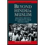img - for Beyond Hindu & Muslim- Multiple Identity in Narratives from Village India by Gottschalk,Peter. [2000] Paperback book / textbook / text book