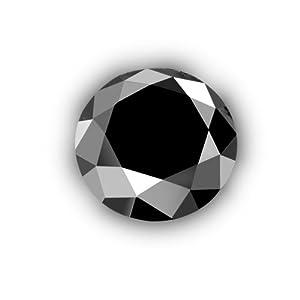 1/2 ct 5.00 mm AAA Black Round Brilliant Natural Loose Diamond