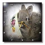 Lionhead Bunny in a Teacup - 10x10 Wall Clock