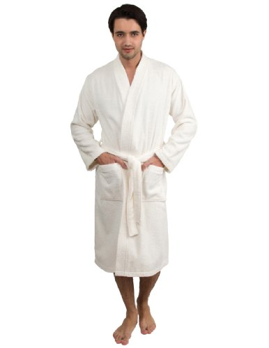 TowelSelections Turkish Cotton Bathrobe Terry Kimono Robe Large X-Large  Ivory 44f616596