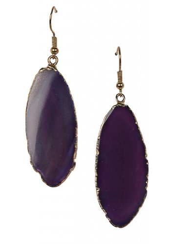 Eena Kapoor Drop Earrings for Women (Purple) (BON42) (violet)