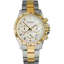 Sekonda Classique Two Tone Chronograph Mens Watch