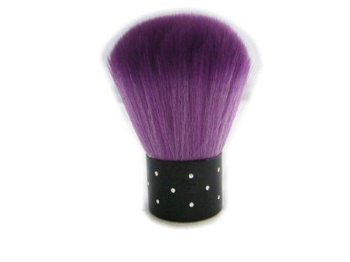ネイル用品 ダストブラシ ストーン付き超軽手触り 紫パープル