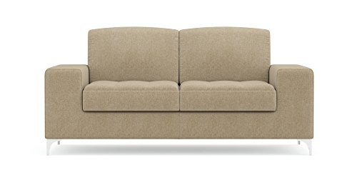 FabHomeDecor Two Seater Sofa (Light Camel)