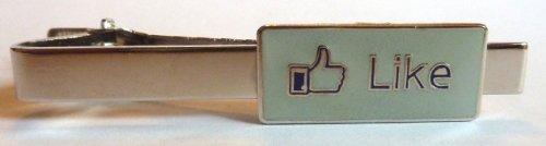 Facebook LIKE Button Social Media Network Internet Tie Bar Clip