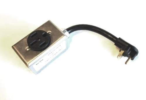 GenTran 10/3 30 Amp TT-30 RV Plug to 50 Amp 125/250 Volt NEMA 1450 Receptacle Generator Adapter RJBATT30-1450R