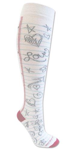 Doodle Socks White M/L
