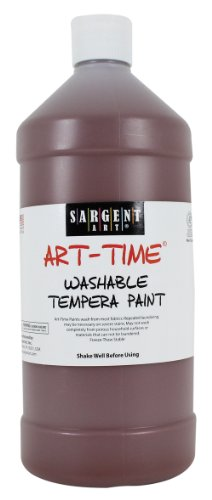 Sargent Art 22-3588 32-Ounce Art Time Washable Tempera, Brown
