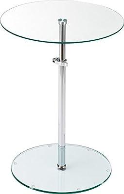 Tisch höhenverstellbar obere Platte untere Platte Chromfuß Klarglas von BHP auf Gartenmöbel von Du und Dein Garten