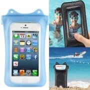 IPX8 Highest Grade Flexible Water-proof / Dirt-proof Bag with Neck Strap, Suitable for iPhone 5 5C 5S (WP-i10, Blue)