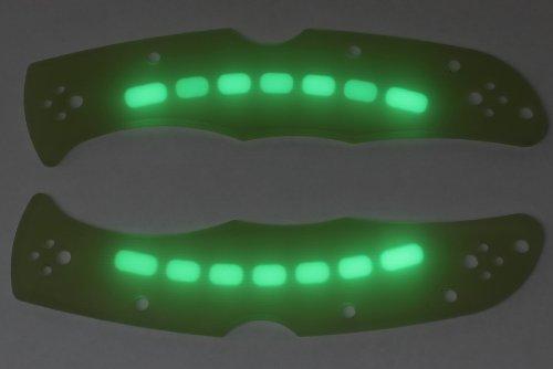 Glowing G10 Jade Ghost Scales for Spyderco Endura 4