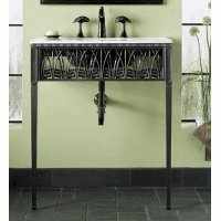 Cheap Kohler K-6890-P5 Cattails Iron Console Table Legs/Apron/Frame Iron Black (K-6890-P5)