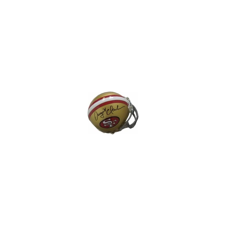 Dwight Clark Autographed San Francisco 49ers Replica Mini Football Helmet