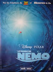 "Amazon.com: Finding Nemo Original French Movie Poster 47"" X 69"