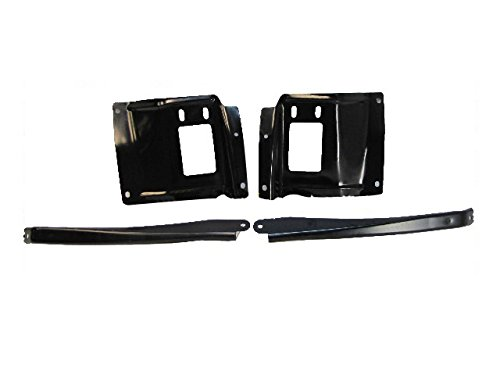 Bundle 05-07 Super Duty F250 350 450 Front Bumper Mounting Plate Out Bracket 4Pc (05 F250 Bumper compare prices)