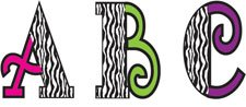 Teacher Created Resources Zebra 5-Inch Uppercase Fancy Font Letters