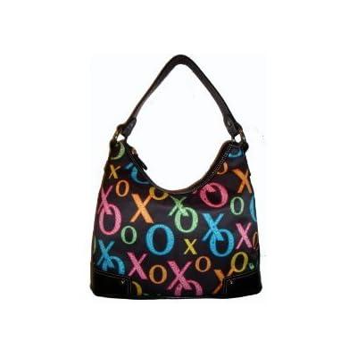 XOXO Sweet Luv Hobo Black Multi Handbag Purse Bag: Handbags: Amazon