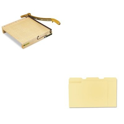 KITSWI1132UNV12113 - Value Kit - Swingline ClassicCut Ingento Solid Maple Paper Trimmer (SWI1132) and Universal File Folders (UNV12113) kitmmmc60stpac103637 value kit scotch value desktop tape dispenser mmmc60st and pacon riverside construction paper pac103637
