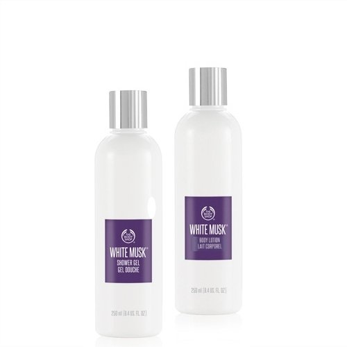 La Body Shop Muschio Bianco Gel Doccia 250 ml + la Body Shop Muschio Bianco Corpo Lotion 250 ml/The Body Shop White Musk Shower Gel 250 ml + The Body Shop White Musk Lozione Per Il Corpo 250 ml