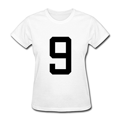 100% Cotton Cute Number 9 T Shirts For Lady'S - Round Neck front-829729